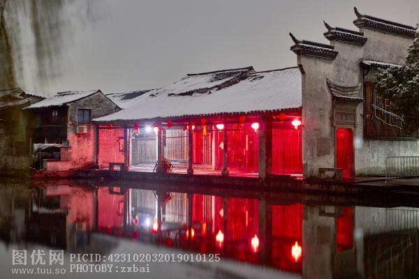 雪后 安昌古镇