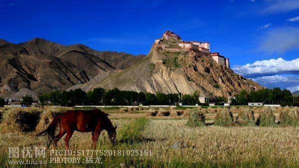 日喀则江孜宗山古堡